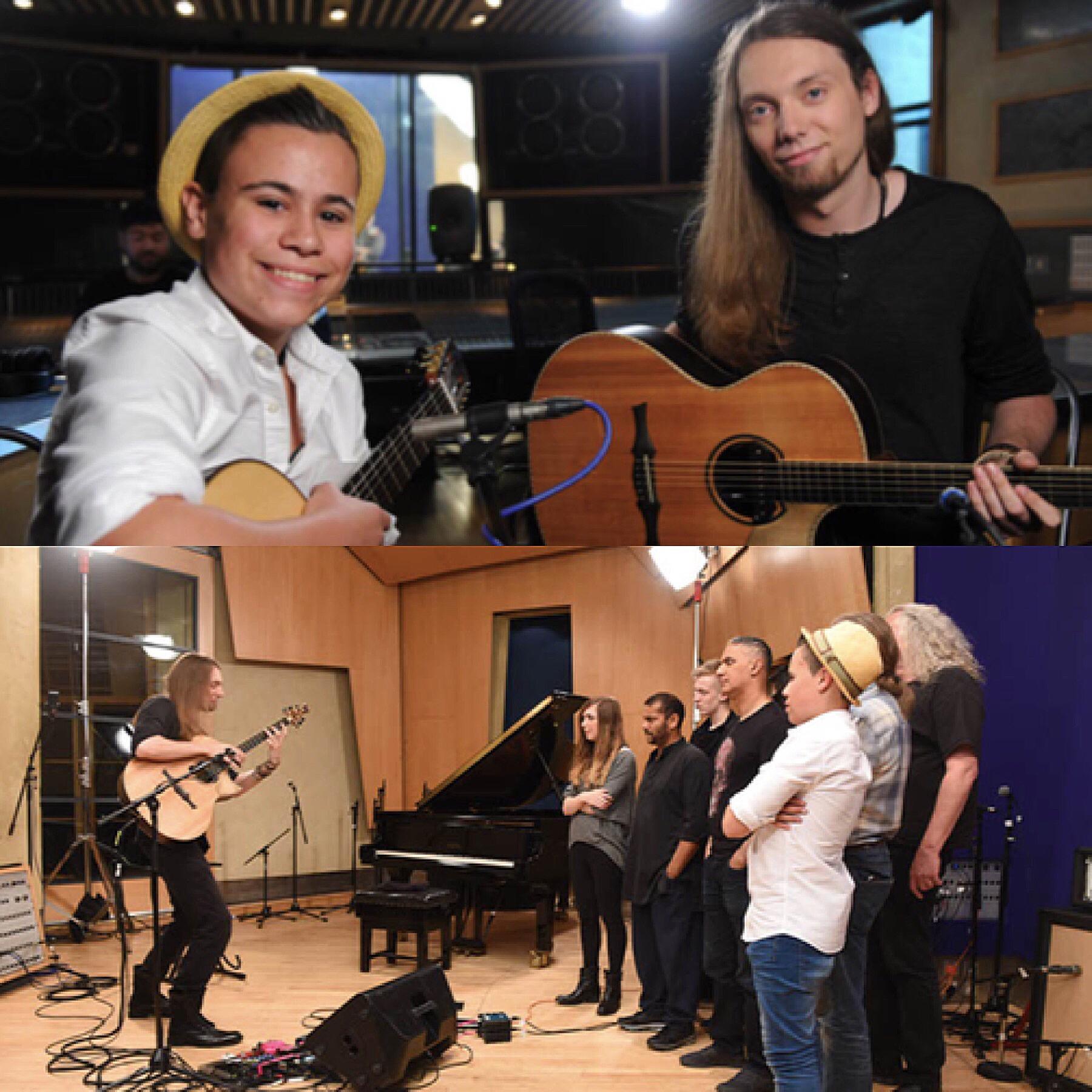 Mentoring on Sky TV's 'Guitar Star'