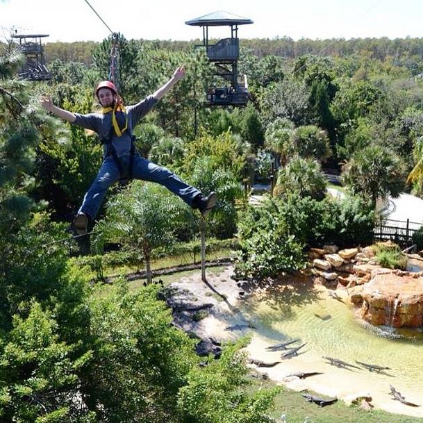 Flying Over Gators in Orlando