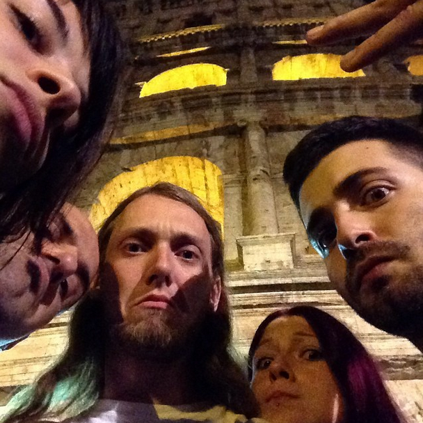 Terrible Colosseum Selfie with Chums in Rome