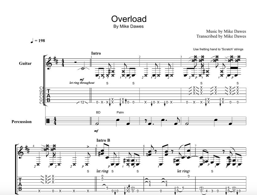 Overload u2013 Guitar TAB : Mike Dawes