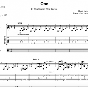 One – Guitar TAB + Free MP3