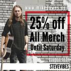 25% off all items until Dec 1st!